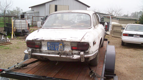 1972 Afa romeo gtv parts car